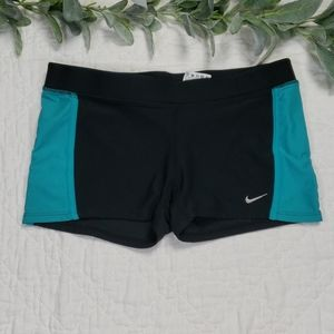 Nike Spandex Shorts Dri Fit Size S Black and Blue